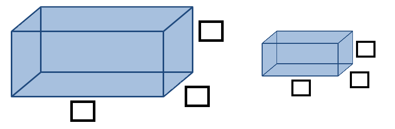 volume of rectangular prisms open middle